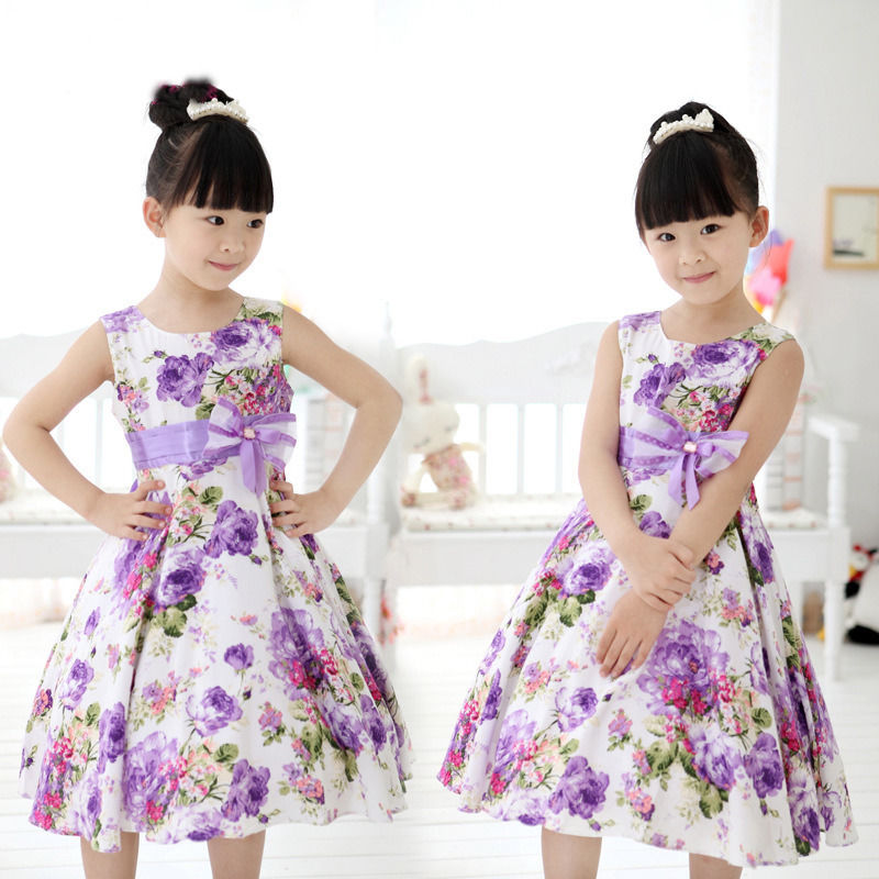 ed1d5b982 2017 New Baby Girls Kids Wedding Prom Party Flower Bow Gown Fancy ...