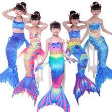 2019 Summer Childrens Mermaid Girls Swimsuit Korean Tight Cartoon COS Costume Cute High Elasticity Small Fresh Suits