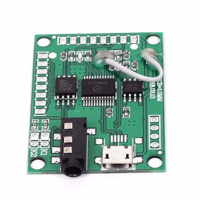 US $6 57 5% OFF QYMUSB2FS Voice Module Sound Board 3W Amplifier Serial  Control 10 Channel Trigger USB Direct Update Flash-in Integrated Circuits  from