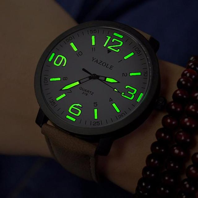 2016 New Casual Fashion Quartz Watch Leather Luxury Mens Military Quartz Army Wr
