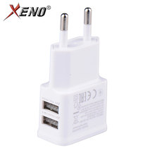 5V fast 1A Plug Dual Double USB Universal mobile phone charger Wall AC Power Charger Home or Travel For iphone ipad ipod