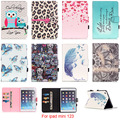 For Apple iPad mini123 Case Case Owl Flower Tower Pattern PU Leather Flip Tablet Shell with Stylus holder For iPad mini 1 2 3