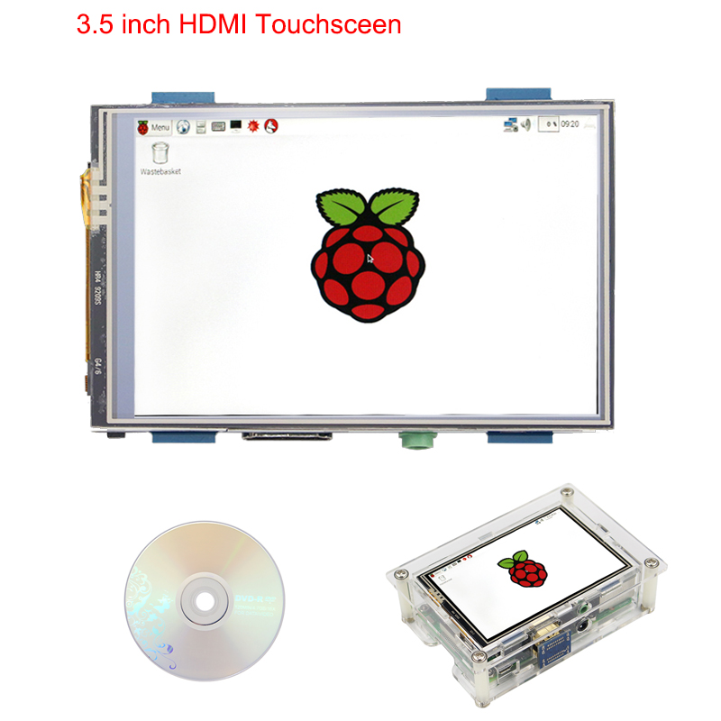 Raspberry Pi 3 Model B+ 3.5 inch HDMI Touchscreen 480x LCD Display + Acrylic Case +Touch Pen +HDMI Adapter for Raspberry Pi 3 3 5 inch touch screen tft lcd 320 480 designed for raspberry pi rpi 2