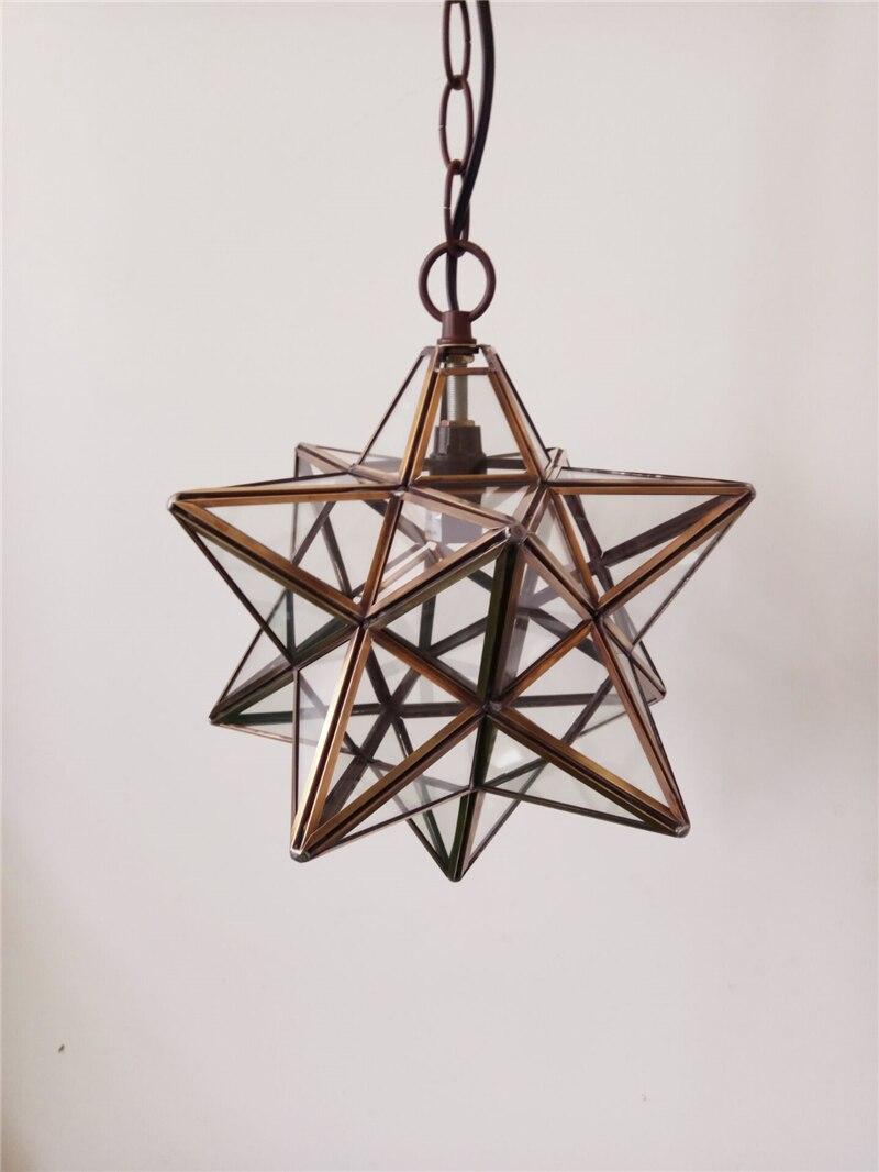 Us 139 2 10 offfumat glass art decor pendant lamp loft light polihedron art glass star light corridor kitchen dinning room glass pendant lamps in