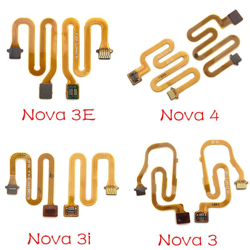 Botão Home Leitor de Impressão Digital Sensor de Toque Id Conector Flex Cable Para Huawei Honra 7X8X8 9 P10 p20 P30 Companheiro 10 20 lite
