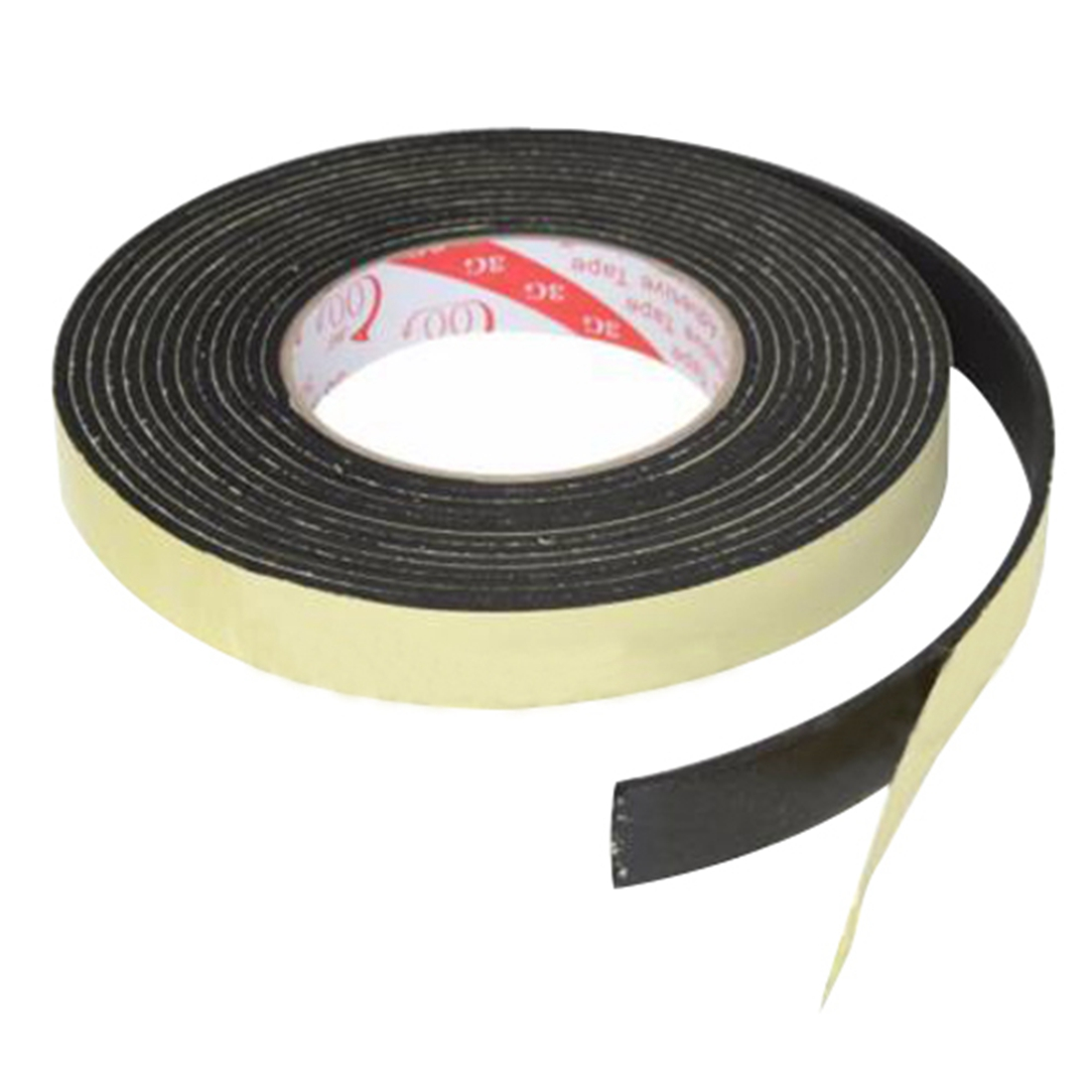 5m black single sided self adhesive foam tape closed cell 20mm wide x 3mm thick us353. Black Bedroom Furniture Sets. Home Design Ideas