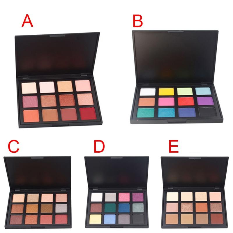 12 Colors Portable Eyeshadow Palette Shining Shimmer Nature Glow Makeup Make Up Set Eye Shadow Cosmetics HJL2017