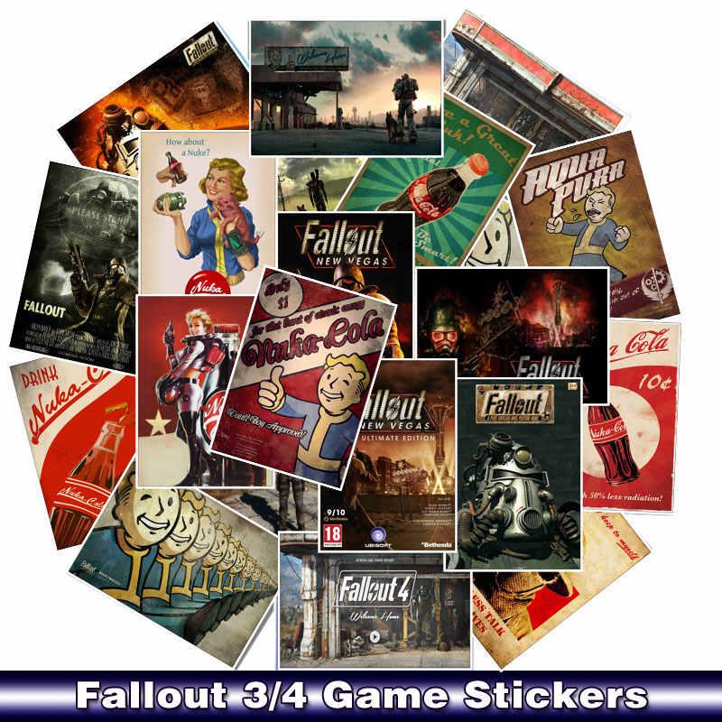 25 Pcs/Lot Fallout 3/4 jeu autocollants pour voiture ordinateur portable PVC vélo sac à dos maison décalque Cool bricolage étanche PVC jouet autocollants
