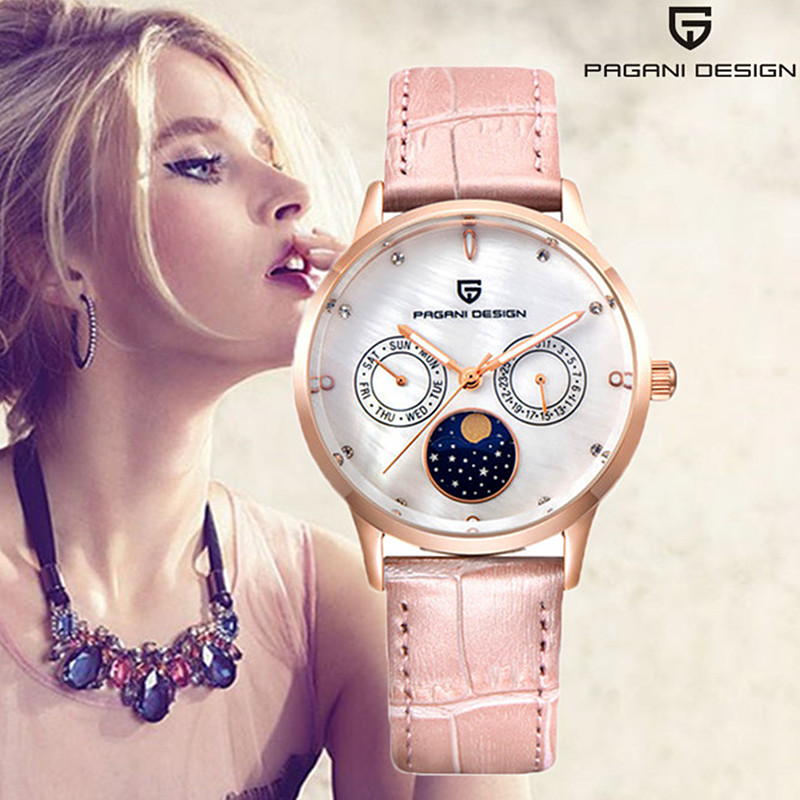 Pagani Luxury Brand Women Watches 2019 Fashion Creative Gold Ladies Quartz Watch Multifunction Femme Bracelet Wristwatches