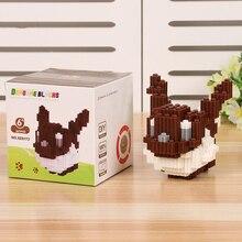 With Box DIY Building Blocks Minifigures Bricks Model Educational Toys Kids Gift Cartoon Pet Elf Eevee