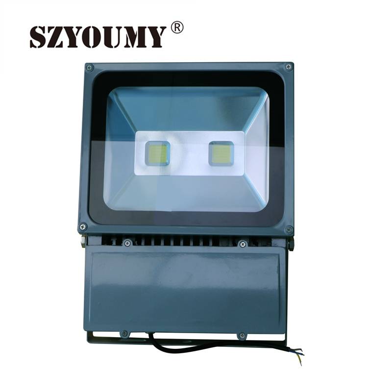 SZYOUMY Projection Outdoor Led Flood Light 100W Waterproof IP65 85-265V High Power Led Floodlight Energy Saving Free Shipping