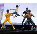 PVC Bandai Bruce Lee Figuras Chino Kung Fu Maestro Leyenda cine y TV Figuras Juguetes Modelo Regalo para la Recolección de Los Niños 4 unids/set