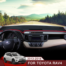 цена на Car Dashboard Cover Mats Avoid Light Pad Instrument Platform Desk Carpet For Toyota RAV4 2013 2014 2015 2016 2017 2018 Accessory