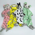 Cute Cartoon Baby Saliva Towel Soothing Reassure Towel Baby Tissue Bibs Towel Newborn Baby Infant Chew Toy Teether Doll Toy Gift