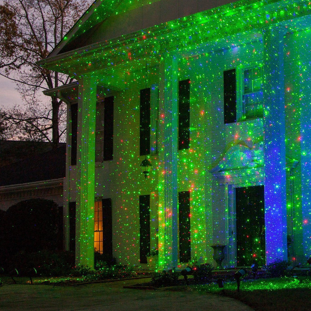 Outdoor RGB Laser Hologram Projektor – Christmas Stars