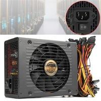 1800W PC BTC Eth Miners Power Supply 80 Plus Efficiency Computer Mining Power Supply SATA Port