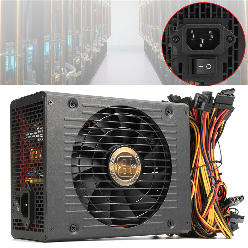 1800W ATX Power Supply For Mining,24pin PC Mining Power Supply,platinum Efficiency,support 6 Video Card блок питания сервера lenovo 450w hotswap platinum power supply for g5 4x20g87845 4x20g87845