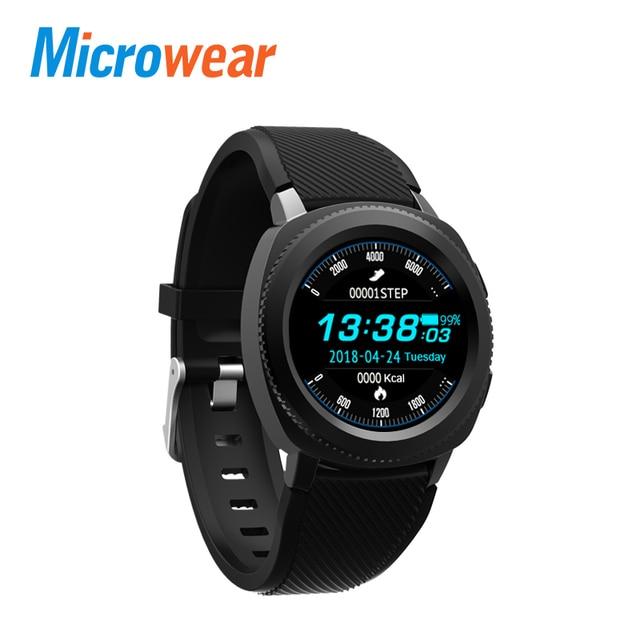 Microwear L2 Смарт-часы MTK2502 Smartwatch IP68 Водонепроницаемый Bluetooth вызова сердечного ритма трекер сна спортивные часы