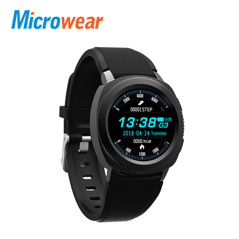 Microwear L2 Smart Watch MTK2502 Smartwatch IP68 Waterproof Bluetooth Calling Heart Rate Sleep Monitor Sports Watch цена
