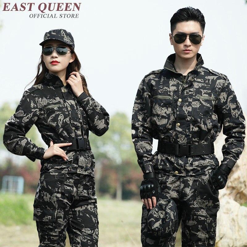 Uniforme militaire américain noir uniforme militaire uniforme militaire camouflage garde de sécurité uniformes KK1795 H