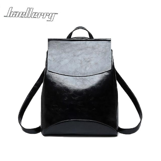 2018 Women Teenage Youth Girls Female Fashion PU Leather Backpack Shoulder Bag  Bagpack School Bag Retro Rucksack mochila Bag 35a55eff08e7e