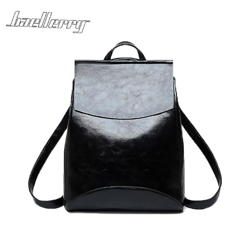 Teenage Girls PU Leather Backpack Shoulder School Bag