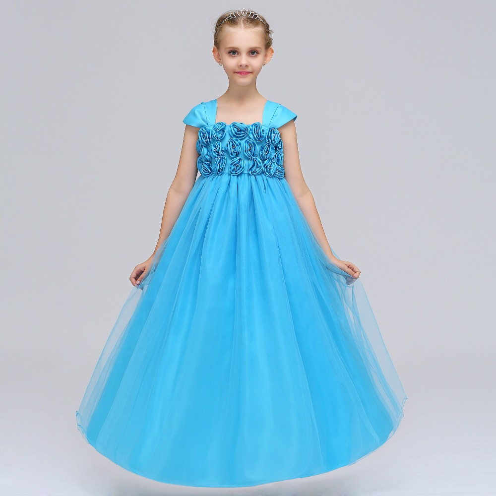 2019 Little Baby Cloud   Flower     Girl     Dresses   for Weddings Black Pageant   Dresses   for   Girls   Sexy Children Images Prom   Dress