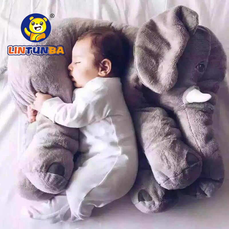 1pcs Big Size60cm or 40cm Infant Baby Elephant Toy Playmate Calm Doll Baby Toys Elephant Pillow Plush Toys Stuffed Doll