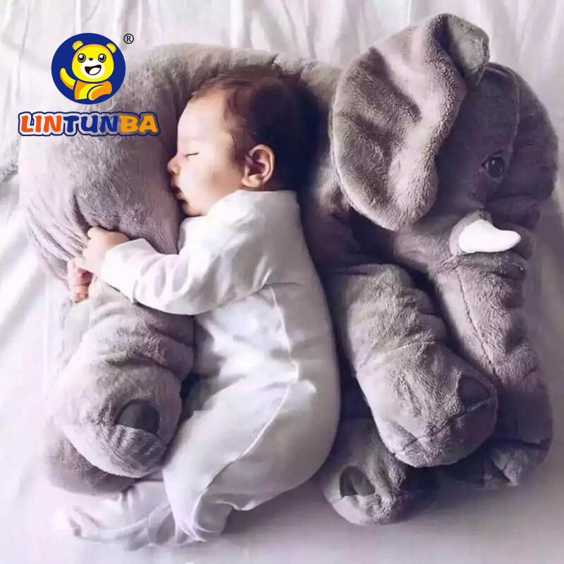 1pcs Big Size60cm or 40cm Infant Baby Elephant Toy Playmate Calm Doll Baby Toys Elephant Pillow Plush Toys Stuffed Doll(China)