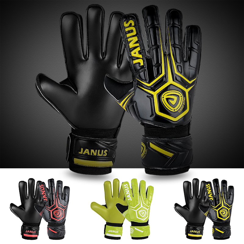 Janus finger protection gloves adult series football goalkeeper gloves Luvas de futebol