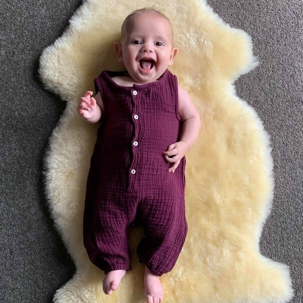 HTB1BO2SNMHqK1RjSZFgq6y7JXXaQ 2019 Children Summer Clothing Cute Newborn Infant Baby Boy Girl Solid Romper Sleeveless Jumpsuit Outfits Cotton Soft Clothes