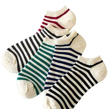 Women Socks Invisible Striped Cotton Boat Low Cut Hosiery High Quality Casual Female Socks 2016 Summer Lady Thin Ankle Socks
