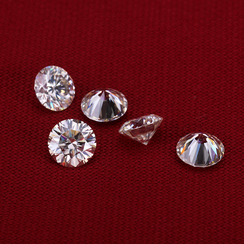 1 pièces 3.5mm 3mm 2mm and1.7mm EF rond brillant coupe Moissanite perles