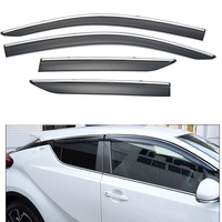 For Toyota C HR CHR 2016 2017 ABS Plastic Window Visors Awnings Rain Sun Deflector Guard