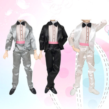 3 sets doll toy fashion wedding party business clothes outfit gown 3 sets doll toy fashion wedding party business clothes outfit gown groom suits shoes for ken barbie doll kids birthday xmas gift junglespirit Choice Image