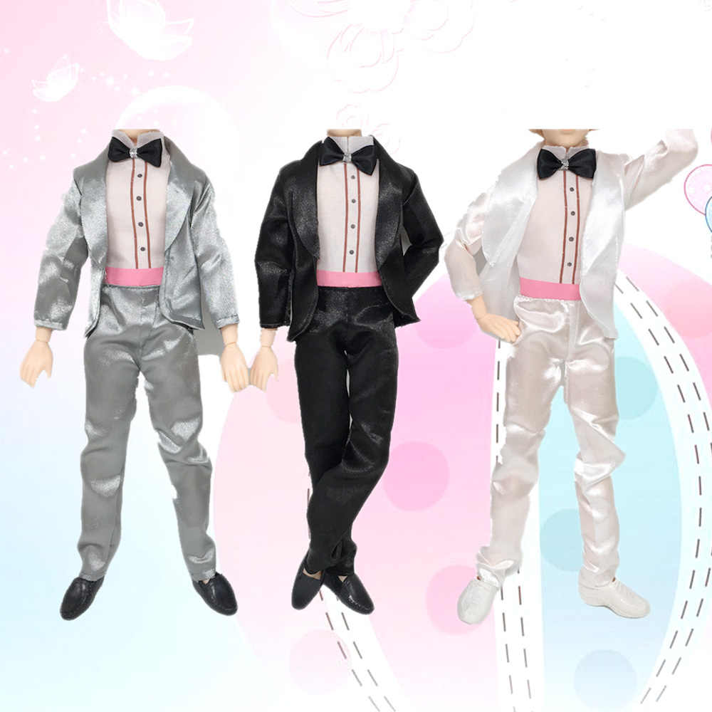 3 наборы для ухода за кожей кукла игрушка Мода Элегантный Свадебное торжество деловая встреча одежда Наряд жениха костюмы обувь Кен куклы Барби Дети подарок на день