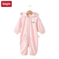 Biqin 3M 6M girlls clothes girls rompers baby children kids clothing boys girls Spring Autumn rompers Baby Warm Long Romper