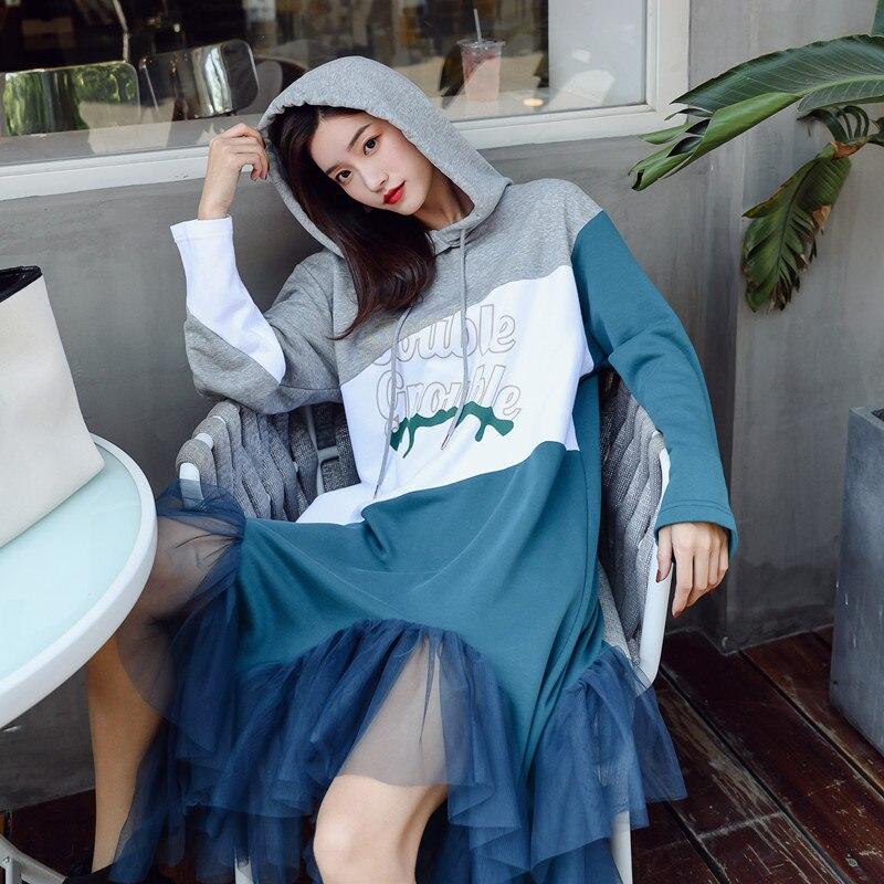 Maille Irrégulière Robe Couture Féminine 1 Nouvelle Contraste 2018 Couleur 5wU7Kzq4X