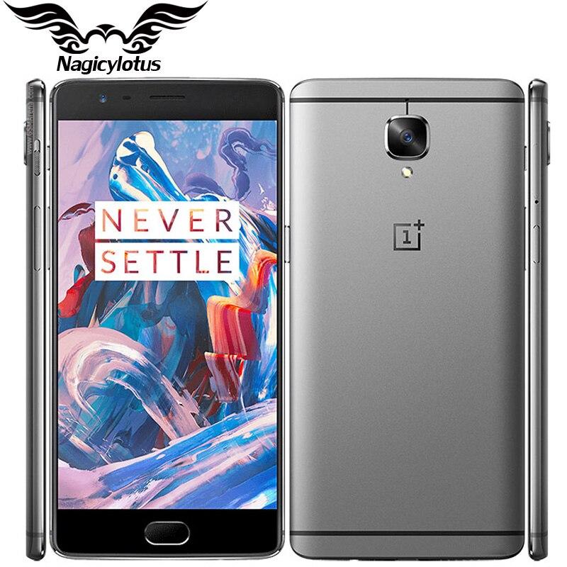 Оригинальный Oneplus 3 A3000 смартфон 6 ГБ Оперативная память 64 ГБ Встроенная память четырёхъядерный Snapdragon 820 5,5 Android отпечатков пальцев мобильный ...