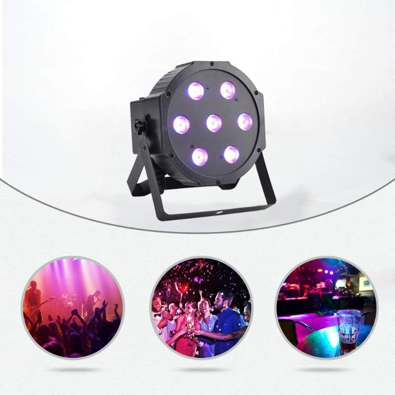 7 LED 4 in 1 Par Light Stage Light Voice control Projector Lamp Lighting 7 *10W EU Plug for DJ KTV Party Wedding Events Club|Stage Lighting Effect| |  - title=