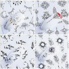 40 Pcs Nail Art DIY Water Transfer Sticker Flower Decals Manicure Decor Tips KG66 стоимость