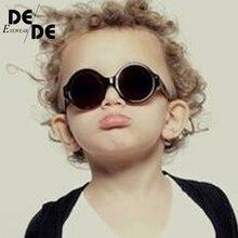 Новые модные круглые детские солнцезащитные очки для маленьких девочек и мальчиков, детские солнцезащитные очки, модные детские солнцезащитные очки UV400 D312