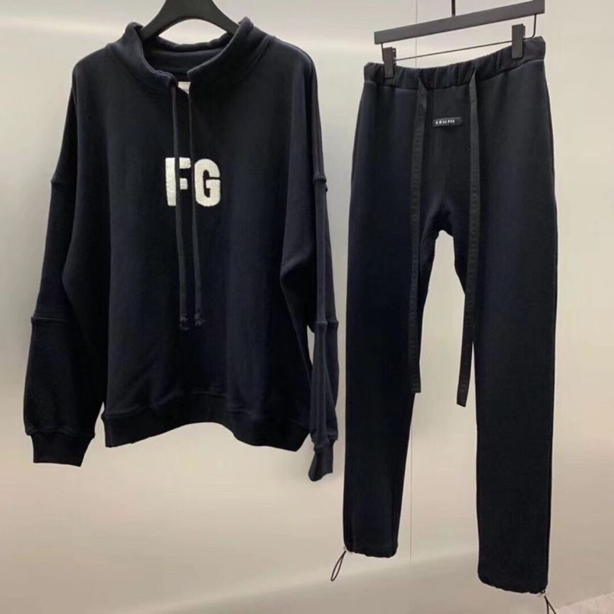 19SS Latest TOP High Street Hip-hop Fog Style Season 6 Jerry Sweatpants Slim Fit Cotton Leisure Trousers Streetwear Ribbon Pants