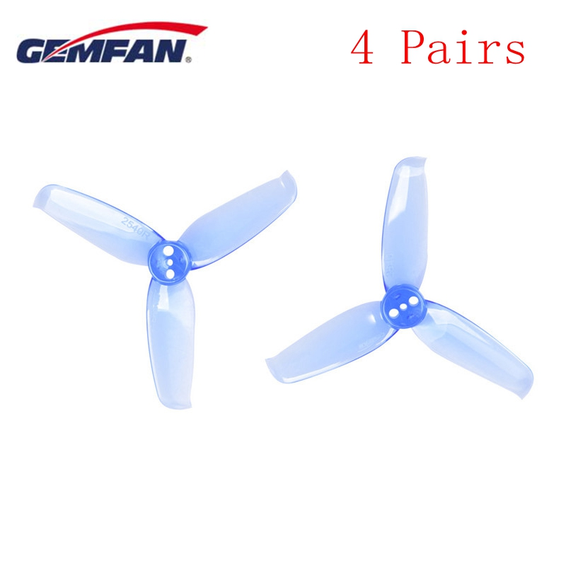 4 Pairs Gemfan Flash 2540 2.5x4 2.5 Inch 3 Blade Propeller Props w/ 1.5mm Mounting Hole For RC Multicopter Motor Blue Yellow Red4 Pairs Gemfan Flash 2540 2.5x4 2.5 Inch 3 Blade Propeller Props w/ 1.5mm Mounting Hole For RC Multicopter Motor Blue Yellow Red
