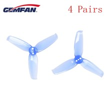 4 Pairs Gemfan Flash 2540 2.5x4 2.5 Inch 3 Blade Propeller Props w/ 1.5mm Mounting Hole For RC Multicopter Motor Blue Yellow Red(China)