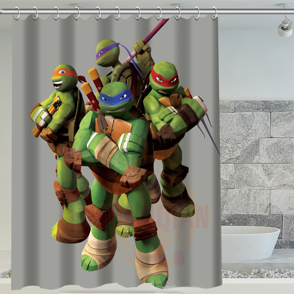 H P 221 Hot Age Mutant Ninja Turtles Custom Waterproof Shower Curtain Bathroom