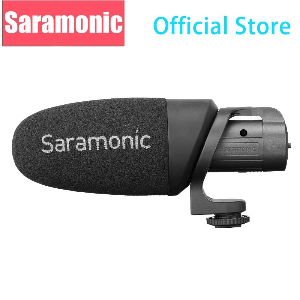 Saramonic CamMic+ Lightweight On-camera Shotgun Microphone with Integrated Shock Mount & Indicator for DSLR Canon Nikon Cameras
