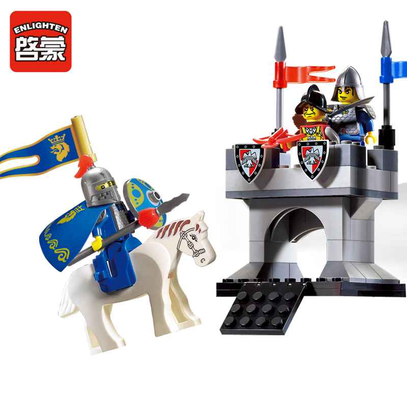 Enlighten 77Pcs Medieval War Castle Soldier Knights Beacon Tower Building Blocks toys for children Compatible With Legoed medieval  total war  gold edition [pc