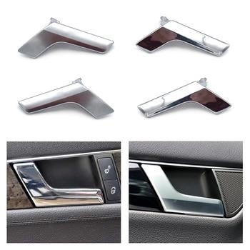 Car Inside Interior Door Handle Repair Buckle Kit for Mercedes Benz C GLK Class W204 X204 Electroplated / Matte Chrome