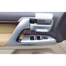 For Toyota LC Land Cruiser 200 2016 2017 Interior Door Holder Handle AC Outlet Panel Cover Trim Chrome Car Styling  Accessories wooden color door holder handle ac outlet dashboard trim lc 200 car styling 2016 2017 for toyota land cruiser 200 accessories
